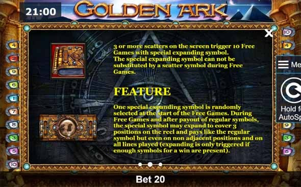 Golden Ark Slot Bonus