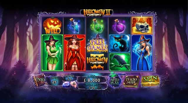 Halloween Fortune 2 Slot Game Reels