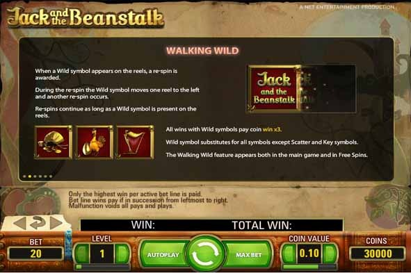 Jack and the Beanstalk Slot Bonus