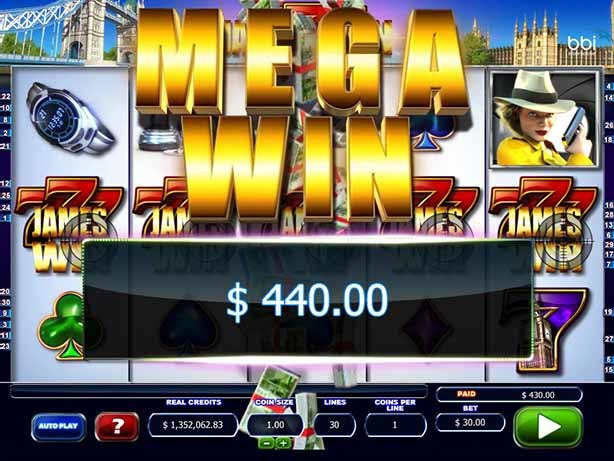 James Win Slot Game Reels