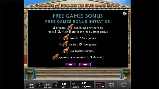 Legends of Troy Slot Bonus