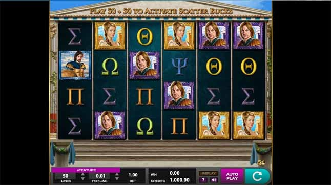 Legends of Troy Slot Game Reels