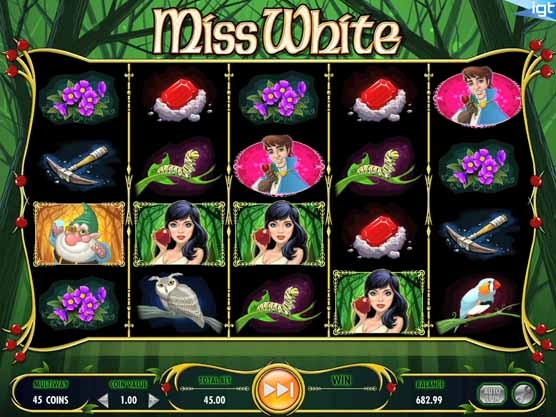Miss White Slot Game Reels