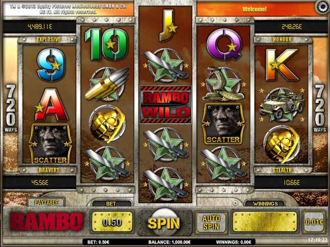 Rambo Slot Game Reels