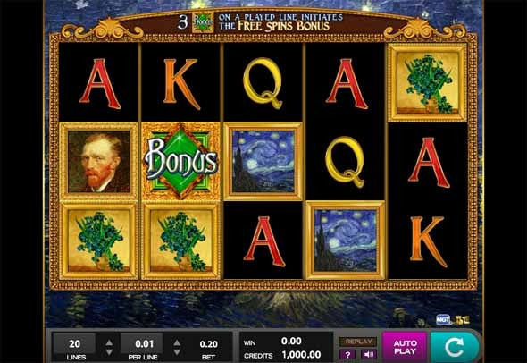 Van Gogh Slot Machine - Play it Free Online