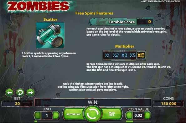 Zombies Slot Bonus
