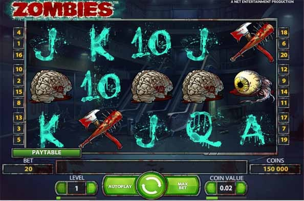 Zombies Slot Game Reels