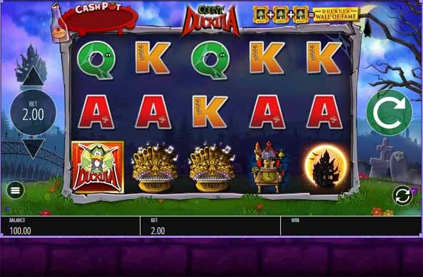 Count Duckula Slot Game Reels