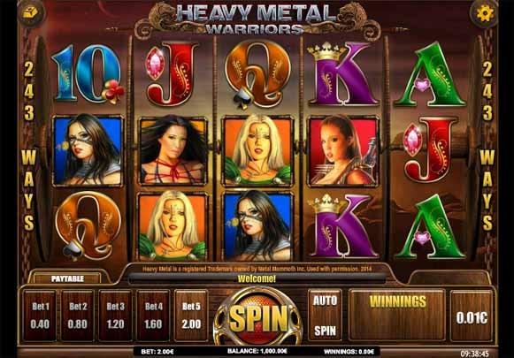 Heavy Metal Warriors Slot Game Reels