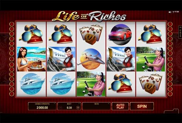 Life of Riches Slot Game Reels