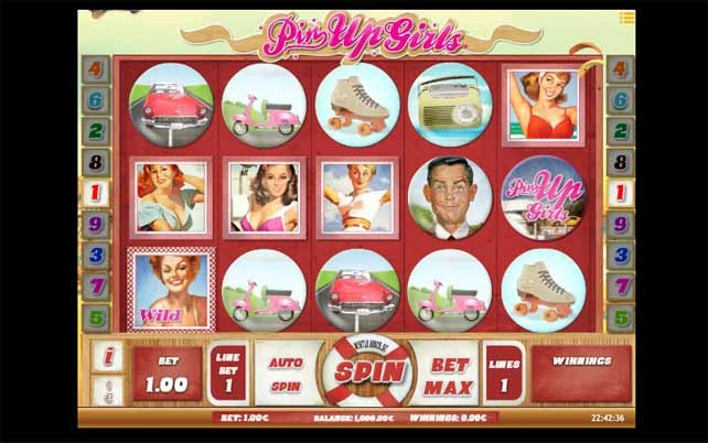 Pin Up Girls Slot Game Reels