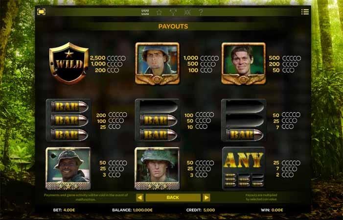 Platoon Wild Slot Bonus