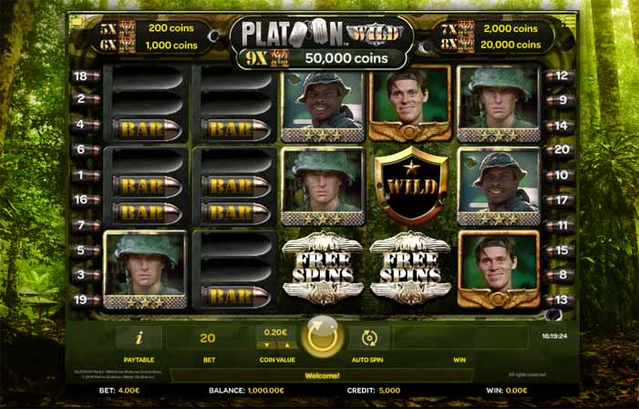 Platoon Wild Slot Game Reels