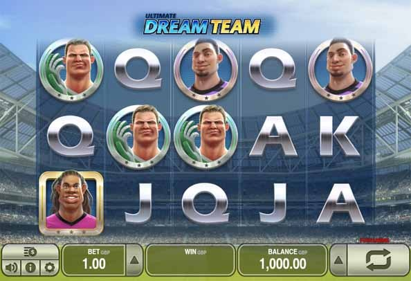 Ultimate Dream Team Slot Paytable