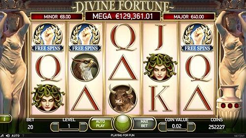 Divine Fortune Slot Bonus