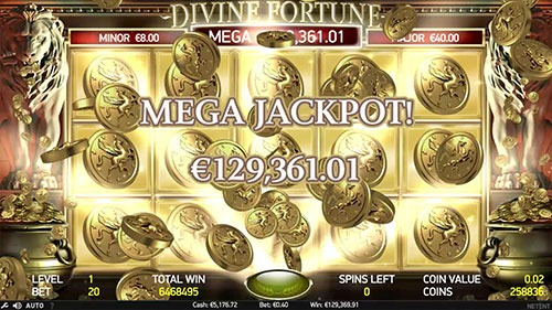 Divine Fortune Slot Paytable