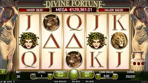 Divine Fortune Slot Game Reels