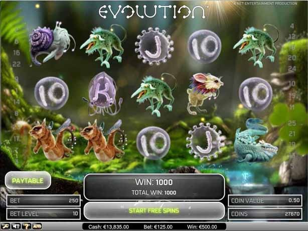 Evolution Slot Bonus
