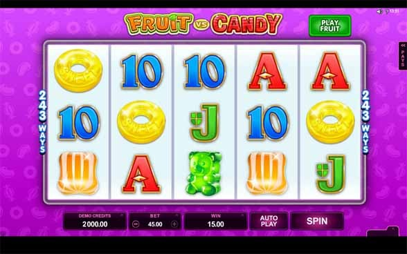 Fruit vs Candy Slot Game Reels