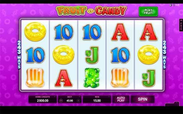 Fruit vs Candy Slot Game Reels