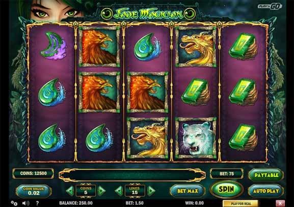 Jade Magician Slot Game Reels