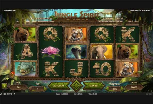 Jungle Spirit: Call of the Wild Slot Game Reels