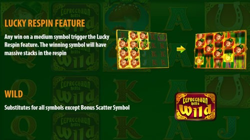 Leprechaun Hills Slot Game Paytable