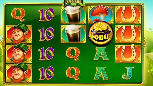 Leprechaun Hills Slot Game Reels