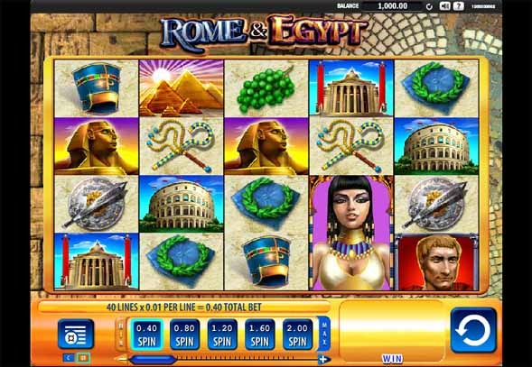 Rome and Egypt Slot Game Reels