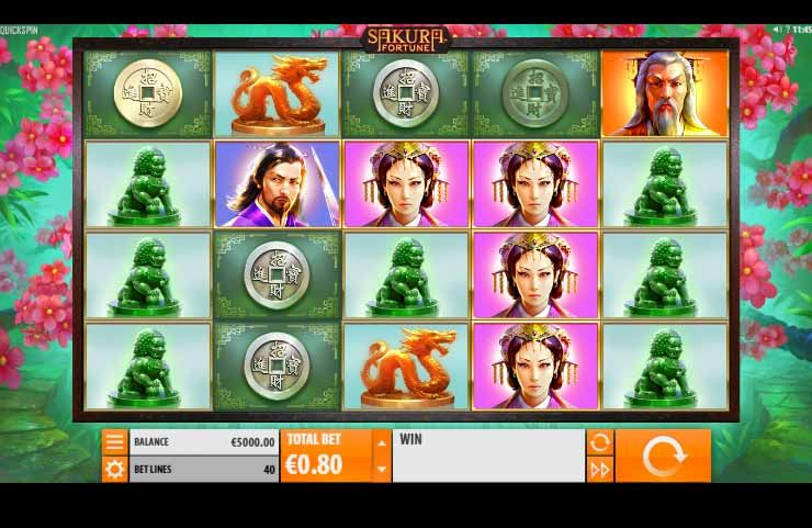 Sakura Fortune Slot Game Reels