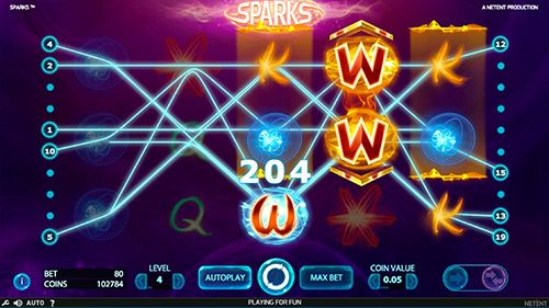 Sparks Slot Paytable