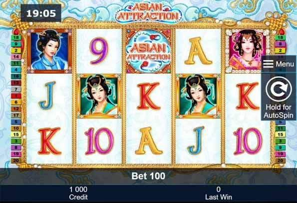 Asian Attraction Slot Game Reels