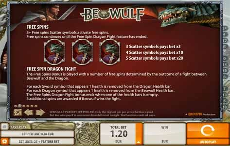 Beowulf Slot Bonus