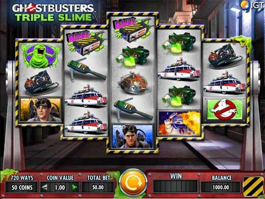 Ghostbusters Triple Slime Slot Game Reels