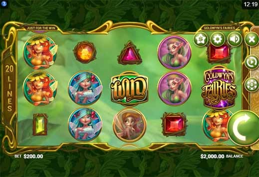 Goldwyn's Fairies Slot Game Reels