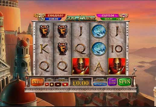 Age of the Gods God of Storms Slot Game Reels
