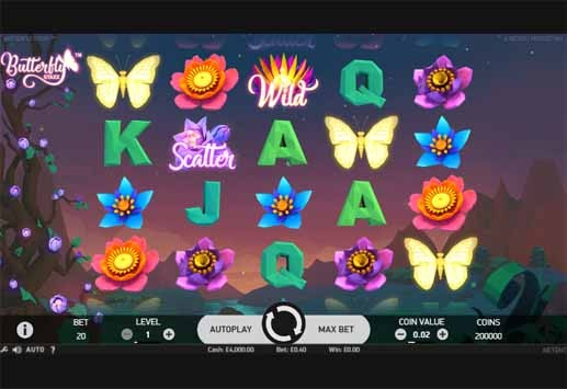 Butterfly Staxx Slot Game Reels
