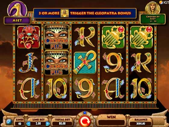 Cleopatra Plus Slot Game Reels