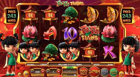 Fa Fa Twins Slot Game Reels