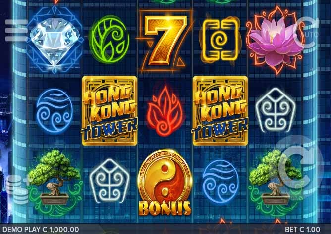 Hong Kong Tower Slot Game Reels