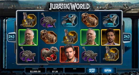 Jurassic World Slot Game Reels