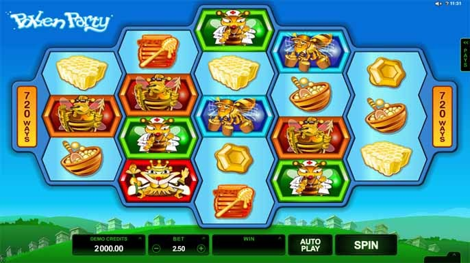 Pollen Party Slot Game Reels