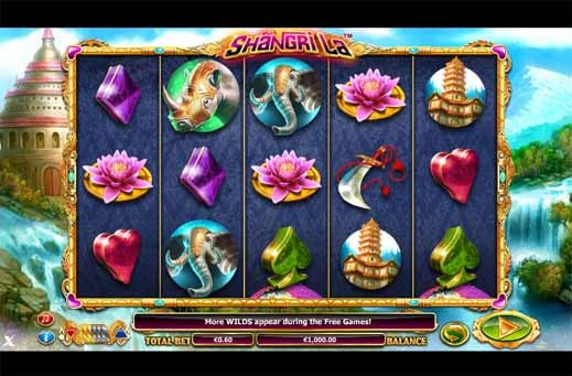 Shangri La Slot Game Reels