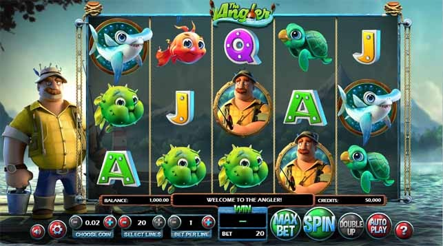 The Angler Slot Game Reels