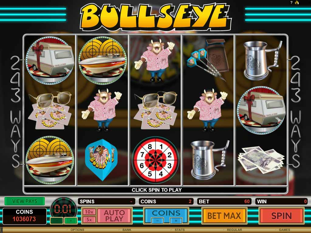 Bullseye Slot Game Reels