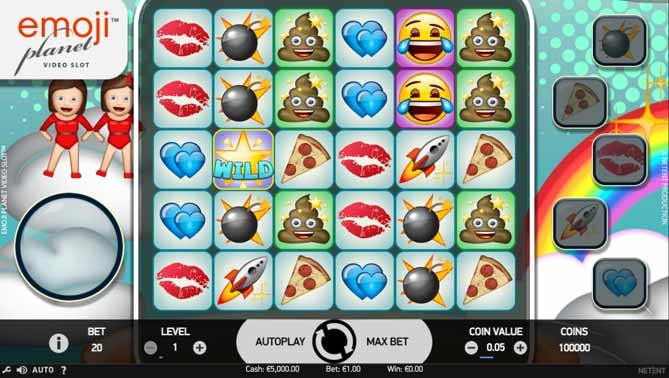 Emoji Planet Slot Game Reels