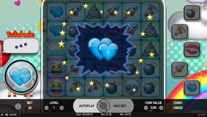Emoji Planet Slot Paytable