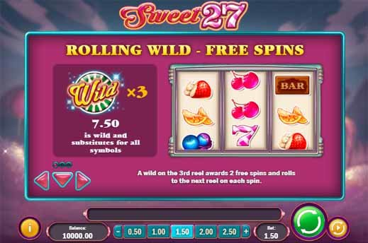 Sweet 27 Slot Bonus