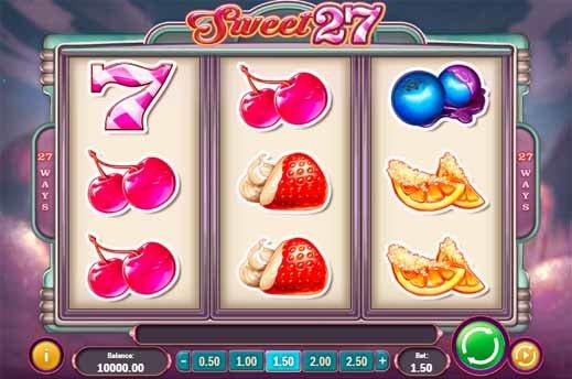 Sweet 27 Slot reels