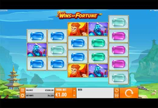 Wins of Fortune Slot Game Reels